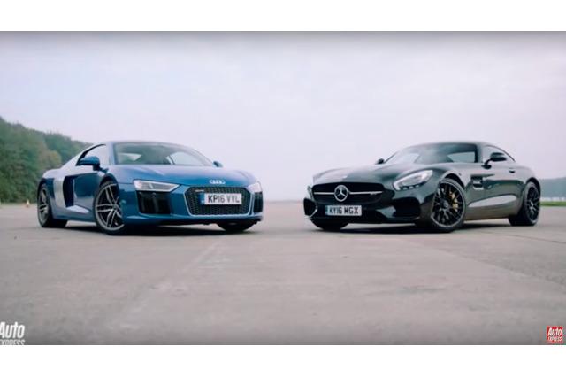 【動画】533馬力アウディR8にメルセデス最新GT Sがドラッグレースで挑む! 画像