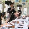 京都伏見のお酒を飲み比べ…叡山電鉄『日本酒電車』3回目の運行 4月1日 画像