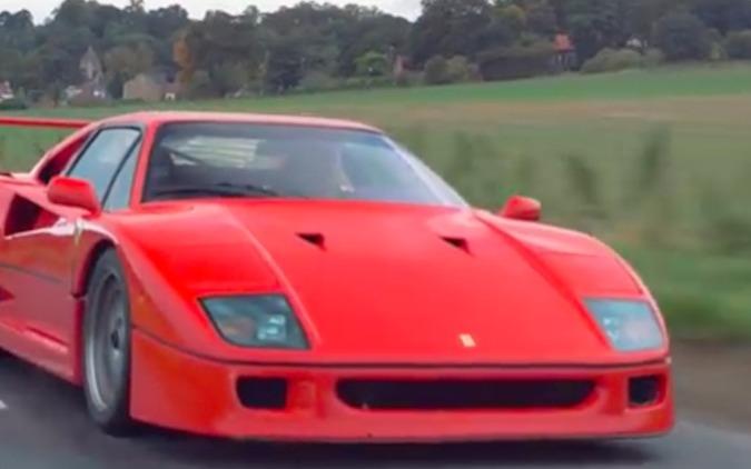 【動画スーパーカー列伝】1987年フェラーリF40、今を走る 画像
