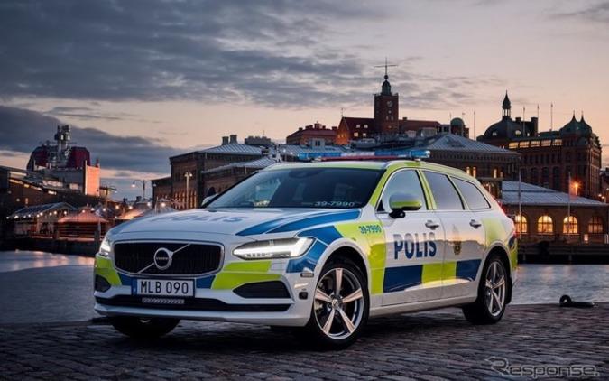 スウェーデン警察、ポリスカーにボルボV90新型を採用! 画像
