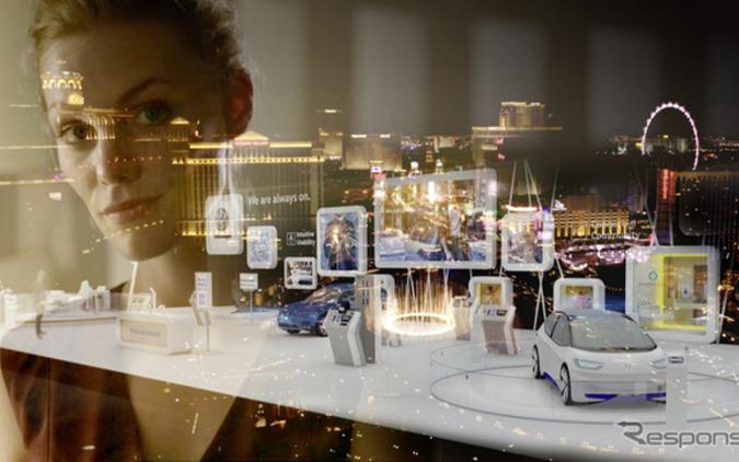 VW、未来のモデルへつなぐ...次世代ディスプレイ&制御コンセプト初公開へ 画像