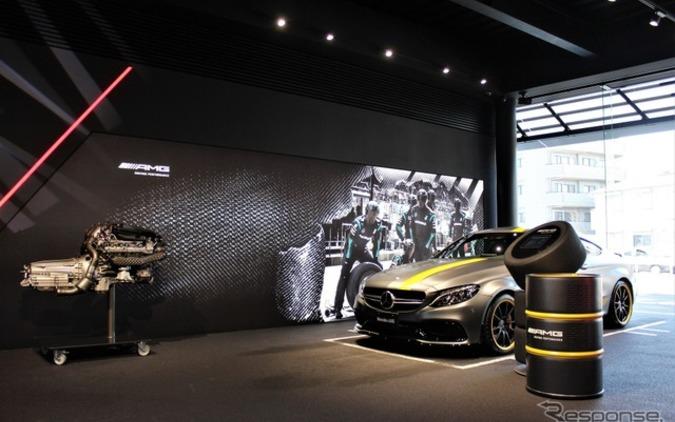 メルセデスAMG初の専売店、内部をサーキット風に世田谷にオープン! 画像