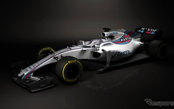F1ウィリアムズ、2017年新型マシン「FW40」を初公開 画像