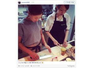 上田桃子、ますます女子力向上?…脳にいい食べ物を学ぶ 画像