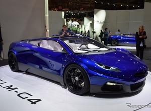 540馬力!GLM次世代EVスーパーカー「G4」、パリでお披露目 画像