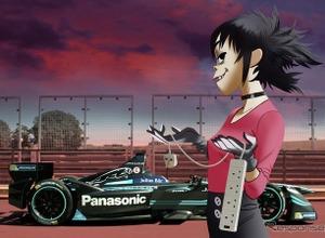 ジャガーのフォーミュラE、ブランド大使に日本女子のアニメキャラ 画像