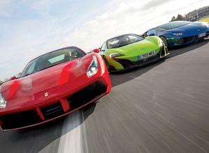 【写真集 スーパーカーの世界】フェラーリ488 GTB vs マクラーレン 675 LT vs ランボルギーニ ウラカン LP610-4 画像