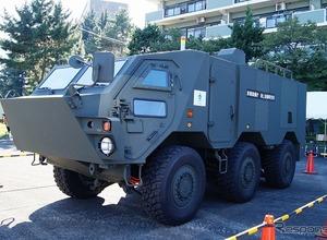 6輪全てにインホイールモーター装着フルEV!「軽量戦闘車両システム」を初公開 画像