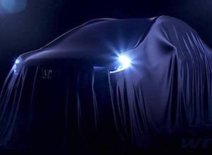 ホンダ新型クロスオーバーSUV「WR-V」、予告ショット初公開! 画像