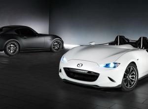 マツダロードスター、白と黒の2種カスタムカーを完全公開 画像