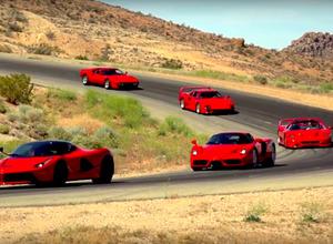 【動画】マニア垂涎!フェラーリ最強の5台を所有する男性が登場、サーキット走行を公開! 画像