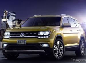VW、新型SUV発表...その名は「アトラス」!日本導入にも期待 画像
