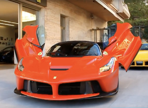 【動画】4億円の最新ラ・フェラーリ、セレブの街モナコに最初の1台が納車! 画像