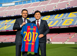 楽天、FCバルセロナとメインパートナー契約で基本合意 画像