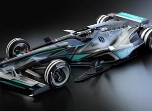 メルセデス未来のF1マシンを公開、2030年はこうなる! 画像