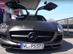 【動画】メルセデスSLS AMG、ニュルで官能の「アクラポヴィッチ」エキゾーストノート! 画像