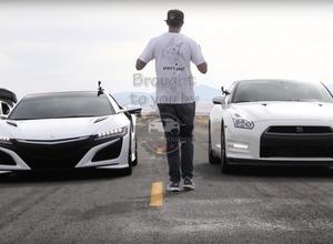 【動画】国産スーパーカー頂上対決!日産GT-R vs ホンダNSX 画像