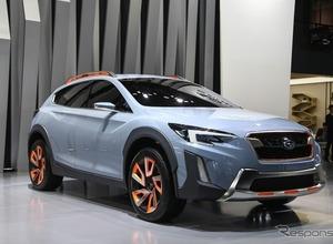 スバル次世代デザインを示唆...「XV」次期型コンセプトを中国初公開! 画像