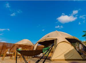 沖縄初のビーチグランピング施設が1月オープン…かりゆしホテルズ 画像