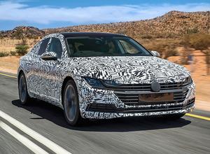 VW・CC後継新型モデル「アーテオン」プロトタイプ、公式リーク画像公開! 画像