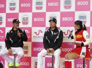 「お前は160キロ投げられる」ロッテ・清田育宏、同僚の田中靖洋を鼓舞する! 画像