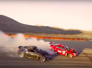 【動画】日産370Zと夢の共演!トヨタ4586、初サーキットで魅せたドリフト・ランデブー! 画像