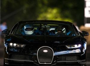ブガッティ、1500馬力の最強『シロン』がヒルクライムで走る 画像