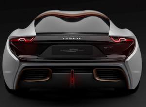 テスラ真っ青!760馬力の次世代燃料スーパーカー「クワント40ボルト」、3月ワールドプレミアへ 画像