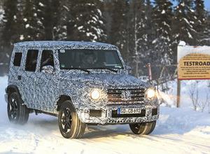豪雪が似合いすぎ…600馬力のメルセデス「AMG G63」次期型、安定のドライビングを見せつける【動画】 画像