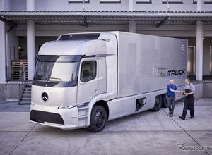 メルセデス、世界初の大型EVトラックの実地テスト開始を発表! 画像