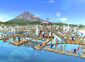 遊園地・ぐりんぱに巨大水上アスレチック「かっぱ大作戦」7月30日オープン 画像