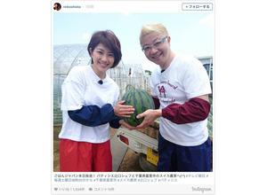 潮田玲子、パティシエ・辻口博啓とスイカ農家を訪問 画像