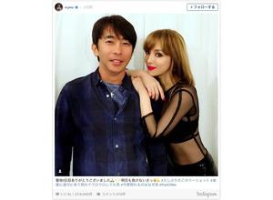 浜崎あゆみ、マドンナ風セクシー衣装で松浦勝人とツーショット 画像