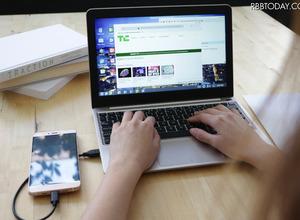 まるでノートPC!AndroidスマホをPCのように使える「Superbook」 画像