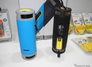 海にも山にも!スマホも充電OK、蓄電池兼用完全防水ワイヤレススピーカーが発売 画像