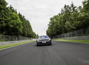 ポルシェ パナメーラ 新型、ニュルで高級セダン最速の7分38秒を記録! 画像
