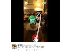 瀬戸大也の頭にポケモン発見!リオ五輪競泳日本代表、『ポケモンGO』で息抜き 画像