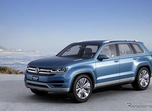 VWの新型SUV、画像流出!「クロスブルー」市販版の車名は... 画像