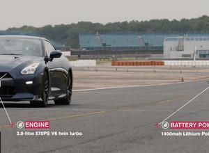 【動画】日産の超高速ドローン「GT-R Drone」vs 本家GT-R、その結末は... 画像