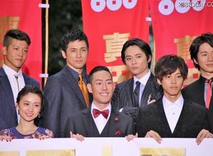 大島優子もスーツ姿の十勇士にうっとり!映画『真田十勇士』レッドカーペットセレモニー 画像