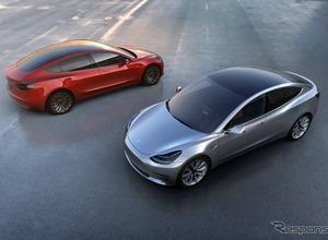 パリで欧州初公開か!? テスラ新型EVコンパクトサルーン「モデル3」 画像