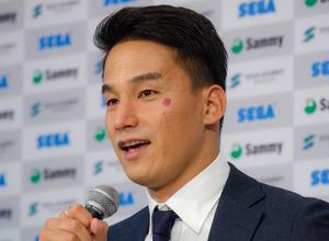 競泳・松田丈志、引退会見で涙「一点の悔いもない気持ち」 画像