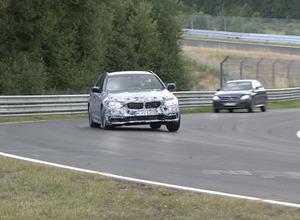 【動画】BMW5シリーズ・ツーリング次世代型、迫力のニュル高速テストを追う! 画像
