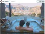 前田健太、娘と温泉で絶景を満喫…ファン「パパの背中が頼もしいぞ!」 画像
