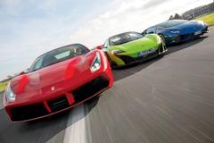 【写真集 スーパーカーの世界】フェラーリ488 GTB vs マクラーレン 675 LT vs ランボルギーニ ウラカン LP610-4