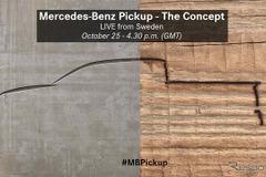 メルセデス史上初のピックアップトラック、公開へカウントダウン!