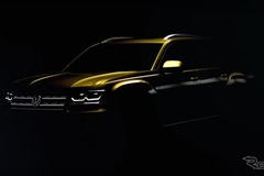 VW新型SUVの姿が暗闇に!車名は「アトラス」か!? 画像