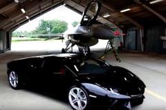 【動画】異種格闘技頂上決戦!アヴェンタドール vs F16戦闘機