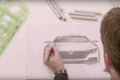 【予告動画】VW新型クーペサルーン「アーテオン」、スケッチに姿が浮かんだ!