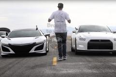 【動画】国産スーパーカー頂上対決!日産GT-R vs ホンダNSX